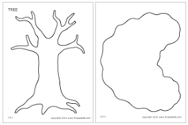Winter Tree Template Tree Printable Templates Coloring Pages Firstpalette Com