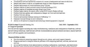 network administrator resume format for job application in word free  download - Computer Hardware And Networking