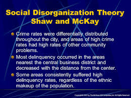 strain and cultural deviance theories ppt  social disorganization theory shaw and mckay