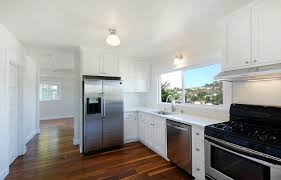white fridge in kitchen. image of: modern kitchen with silver fridge white in