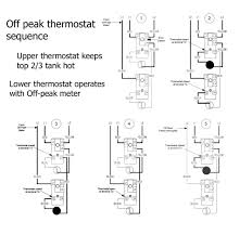 how to wire water heater thermostat off peak two water heaters off peak 120volt ordinary tank wiring