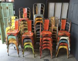 xavier pauchard french industrial dining room furniture. industrial vintage tolix chairs by xavier pauchard very colourful laboutiquevintage french dining room furniture