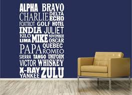 The nato (north atlantic treaty organization) phonetic alphabet is currently officially denoted as the international radiotelephony spelling alphabet (irsa) or the icao (international civil aviation organization) phonetic alphabet or itu (international telecommunication union) phonetic alphabet. Nato Alphabet 0232 Home Decor Wall Decor Nato Phonetic Alpha Wall Decal Studios Com
