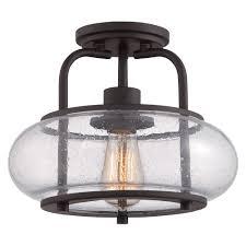 trilogy vintage semi flush ceiling light seeded glass flush mount light fixture for home depot bathroom