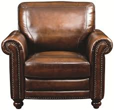 bassett hamilton 3959 12s traditional leather chair with brown leather chair with nailhead trim
