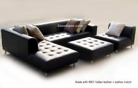 modern black leather couches. Stunning Modern Black Leather Sectional 4pc-modern-euro-design-black-leather Modern Couches