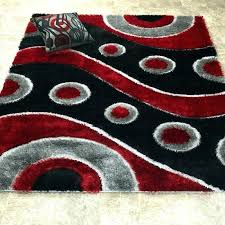 red and white rug red and black area rug gy wave white rugs red and white