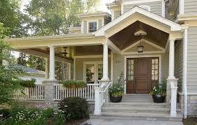 Front porch entrance designs entry traditional with gray exterior covered  porch wood front door