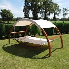 shaded canopy swing hammock bed