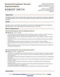 Customer Service Skills In Resume Technical Customer Service Representative Resume Samples