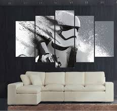 5 panel star wars white knight modern home wall decor painting canvas art hd print painting on star wars canvas panel wall art with 5 panel star wars white knight modern home wall decor painting