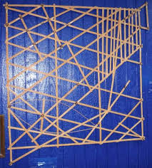 Micronesian Stick Chart Stick Maps Charts Of Marshall Islands Micronesia Picture