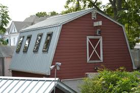 Silver Metal Roof on Mansard Style Barn