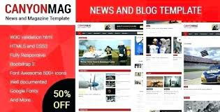 Free Html Newspaper Template Newspaper Template Html Template For News Website Html Css
