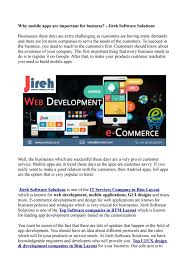 Software Solutions And Designs Why Mobile Apps Are Important For Business Jireh Software