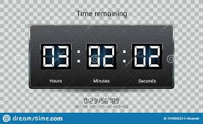 Hours To Minutes Chart Countdown Timer Remaining Or Clock Counter Scoreboard With