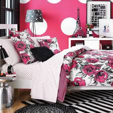 beautiful teen bedroom with white polka dot bedspread and teenage girls bedding sets bedroom