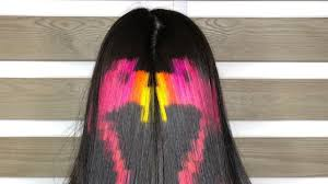 Color Design Hair Colour This Pixelated Hair Color With Hidden Flamingo Design Is