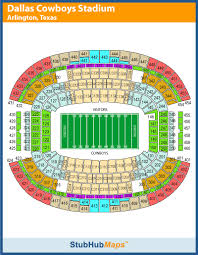 Dallas Cowboys Seating Chart Dallas Cowboys Stadium Seating Chart