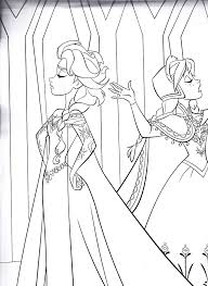 Small Picture Princess Anna Beautiful Queen Elsa Coloring Pages coloring page