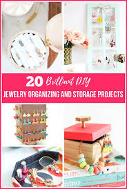 20 diy jewelry organizing storage projects tired of having a tangled mess of necklaces