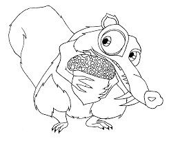 Small Picture Squirrel coloring pages Coloring For Kids Pinterest Ice age