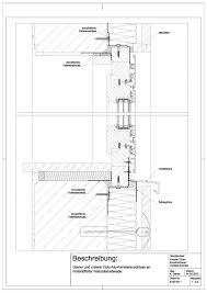 B 05 0011 Oberer Und Unterer Holz Alu Fensteranschluss An