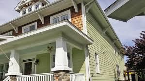 shingle siding house. A Green House With Cedar Shake Siding Shingle