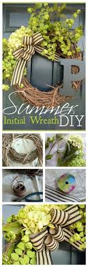 initial wreaths for front doorSUMMER INITIAL WREATH DIY  StoneGable