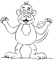 Monkey Coloring Book Antiatominfo
