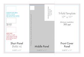 017 Trifold 11x17 Template Indesign Tri Fold Brochure Awful