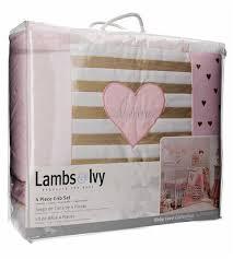 elgeo lambs ivy baby love pink gold