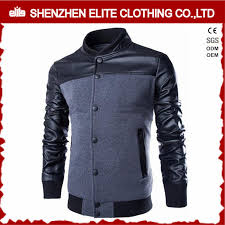 korean men varsity baseball jacket leather wool