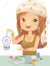 What Is A Dream Catcher Supposed To Do Illustration Of A Girl Holding A DoItYourself Dream Catcher 63