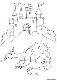 Coloriage Chateau De Chevalier 8 Dessin
