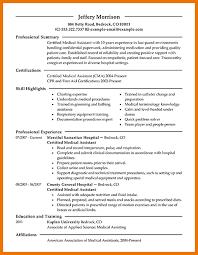 medical assistant resume objective   program format Dayjob