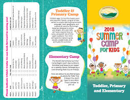 Summer Camp Pamplets Camp Brochure Rome Fontanacountryinn Com