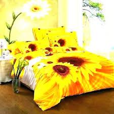 yellow sunflower comforter set twin king size sheets sheet echo c
