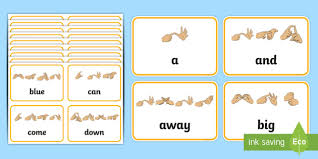 Pre Primer Dolch List Sight Words With Fingerspelling