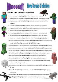 English Esl Minecraft Worksheets Most Downloaded 6 Results