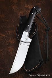 <b>Нож складной</b> Пчак сталь Х12МФ накладки черный граб