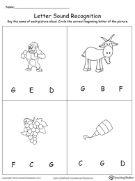 This is one of the most comprehensive collections of phonics worksheets available online. Recognize The Sound Of The Letter G Myteachingstation Com