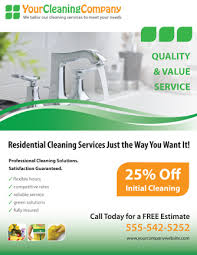 flyer companies promote your cleaning company with this house cleaning services