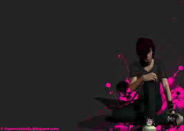 EMO Blog: 3D EMO Boy Wallpaper