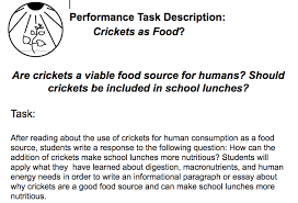 crickets in my lunch performance task new visions science share to google classroom