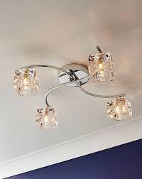 ice cube 4 arm fitted ceiling light
