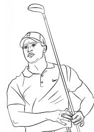Here is a beautiful collection of tiger coloring sheets in their realistic and humorous form. Coloring Pages Tiger Woods Coloring Page