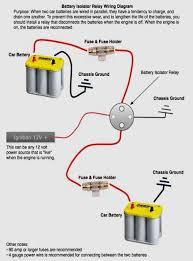 dual battery isolator wiring diagram boat battery wiring diagram
