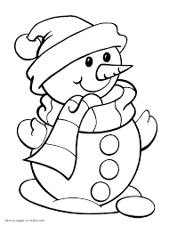 Small Picture Snowman Color Pages Miakenasnet