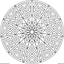 geometric pattern coloring pages kaleidoscope design sheets flowers pdf drawing designs